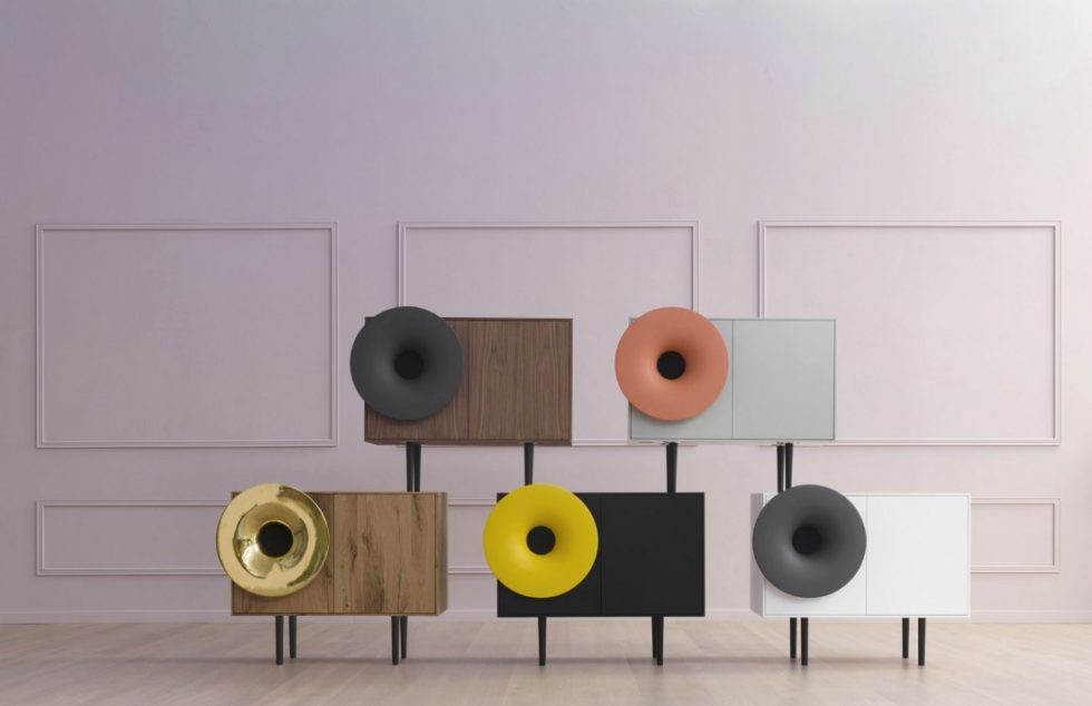 caruso le meuble enceinte bluetooth. Black Bedroom Furniture Sets. Home Design Ideas